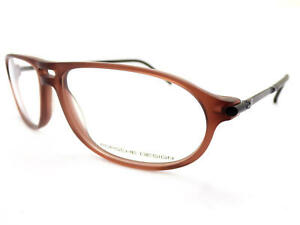 PORSCHE DESIGN Glasses Frame Matte Brown/ Black 58mm Spectacles RX P8138 B
