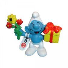 Les Schtroumpfs figurine Schtroumpf Fleurs et Cadeau 5,5 cm Gift Smurf 20040