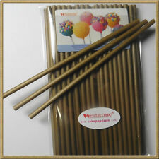 "50pcs 6"" x 5/32"" Plastic lollipop sticks for cake pops lollipop candy - Gold"