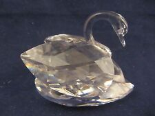 Swarovski Austrian Crystal Medium Swan figurine    (417C)
