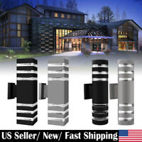 Outdoor Indoor LED Dual Head Wall Sconce Up Down Fixtures Wall Mount Light IP65