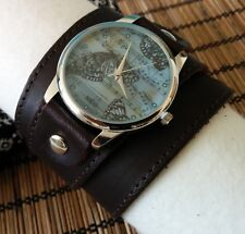 ButterFly leather Watch wide band Women Men Naughty Fashion Artistic 100012