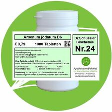 Schüßler-Salz Nr.24 Arsenum jodatum D6 1000 Tabl. PZN 08002091