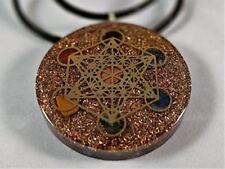 Metatron's Cube Merkaba Seven Chakras with Crystals Stones Orgone Pendant Genera