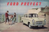Ford Prefect 100E 1954-55 UK Market Foldout Sales Brochure
