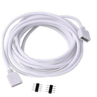 New 4Pin Extension Wire Cable Cord Connector For RGB 5050 3528 LED Strip Lights