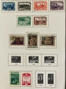 RUSSIA 1950 stamps collection , 3 sets ,  used