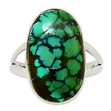 Natural Tibetan Turquoise 925 Sterling Silver Ring Jewelry s.9.5 27789R