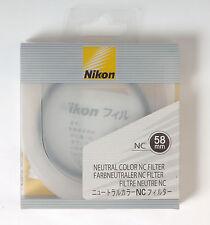 Nikon NC Filtro colore neutro 58mm UV con protezione dai raggi
