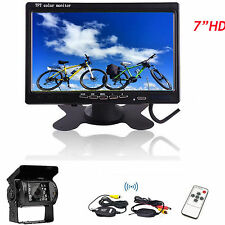 "7""Monitor for RV Truck+Wireless Rear View Backup Camera NIGHTView System 12-24V"