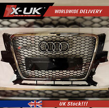 RSQ5 STYLE FRONT GRILL GLOSS BLACK & CHROME EDGE FOR AUDI Q5 / SQ5 2008 - 2012