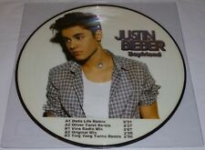 """JUSTIN BIEBER BOYFRIEND PICTURE DISC 12"""" VINYL RECORD PROMO RARE REMIXES NEW"""