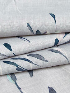 John Lewis Nerine Cotton Print in Blue Grey Colour - 1 metre piece