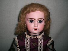"Beautiful Antique 20"" Open Mouth Tete Jumeau Doll Size 8 Pierced Ears Circa 1900"