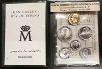 ESPAÑA CARTERA 1983 SC 1+5+10+25+50+100 PESETAS Lis Escudo JUAN CARLOS I NO FNMT