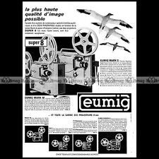 EUMIG MARK M S PROJECTEUR SUPER 8 MM FILM PROJECTOR 1965 Pub Publicité Ad #A1481