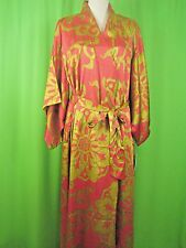 NATORI MEDALLION Red Floral Print NWT Long Robe S