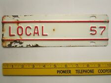 ICENSE PLATE Truck Tag TOPPER 1957 KANSAS Add-On Tab LOCAL [Z289D19]