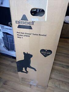 Bissell Pet Hair Eraser Turbo Rewind Upright Vacuum Cleaner, Blue (27909)