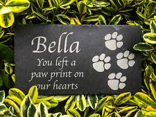 Pet Memorial Personalised Slate Plaque Engraved Dog Cat Grave