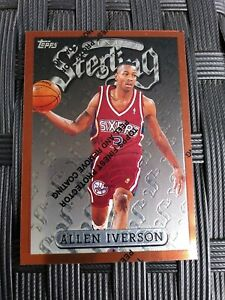 1996-97 Allen Iverson Topps Finest Sterling Rookie Card #240 🔥🔥