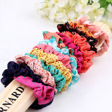 10pcs New Girls elastic hair ties Scrunchie Ponytail Holder Hair Accessory