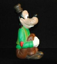 Vintage Hand Painted Ceramic Figure Goofy - Legs pulled up with arms around them