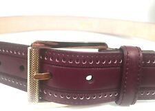 BRIONI NIB Authentic Brown Leather HANDMADE Men's Belt IT-100/US-40 IT-90/US-36