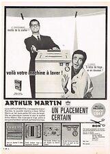 PUBLICITE ADVERTISING  1963   ARTHUR MARTIN   lave linge machine à laver