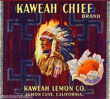 Lemon Cove Tulare County California Kaweah Chief Orange Fruit Crate Label Print