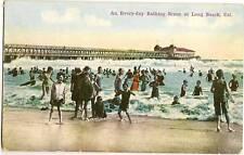 Every Day Bathing Scene Long Beach CA California Pier