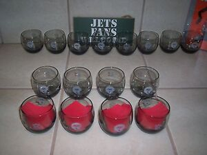 New York Jets rock glasses set of 8