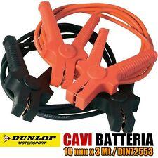 CAVI COLLEGAMENTO BATTERIA AUTO MOTO CAMPER 12/24V 16MM X 3MT DIN72553 DUNLOP