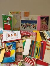 Variety Lot of 100 Greeting Cards ~ Birthday Blank Note Cards Christmas