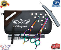 New 6'' Barber Salon Hairdressing Scissors Thinning Hair Cutting Shears Set