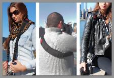 StatGear BOOMR Bungee Camera Strap Sling BLACK Fits Canon Nikon Sony Pentax DSLR