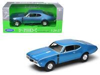 1/24 Welly 1968 Oldsmobile 442 Blue Diecast Model Car Blue 24024