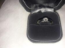Tiffany & Co. Etoile Platinum .52ct Diamond Solitaire Half Bezel Engagement Ring