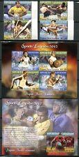 Papua Neuguinea 2012 Sport Rugby Boxen Laufsport Gewichtheben 1806-13 Block 153