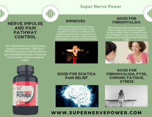 Super Nerve Power Fibromyalgia Relief  Chronic pain Natural Supplement
