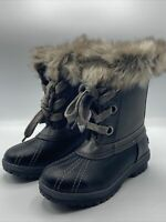London Fog Women's Size 9 Gray Black Milly Winter Mid-Calf Boot Black New in Box