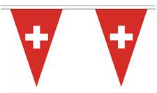 Switzerland 5M Triangle Flag Bunting - 12 Flags - Triangular