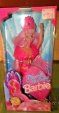VINTAGE NRFB 1990s Pink Box Barbie Doll Fountain Mermaid  #10393