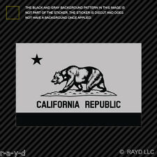 "4"" Subdued California Flag Sticker Decal Self Adhesive Vinyl republic cali CA"