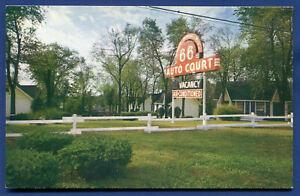 66 Auto Courts City Route 66 - 8730 Watson Road St Louis Missouri mo postcard