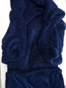 Pottery Barn Kids Cozy Sherpa Anywhere Sofa Lounger Slipcover ONLY Navy #306B