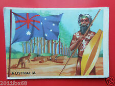 figurines cromos cards figurine sidam stati del mondo 21 australia flags flaggen