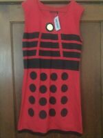 NEW DOCTOR WHO RED DALEK COSPLAY DRESS HOT TOPIC BBC HER UNIVERSE XL