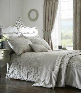 Howard Jacquard Duvet Quilt Cover Set Bedding Set Silver/Grey