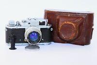 RARE 1955 Zorki-3M Soviet Rangefinder Film Camera copy Leica w/s lens Jupiter-8